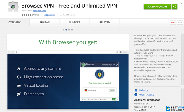 Configure vpn in firefox