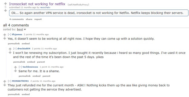 Netflix vpn reddit 2017