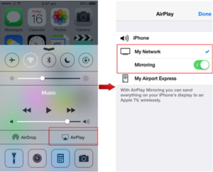 ios airplay step 2