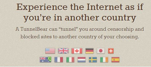 TunnelBear Review by Country