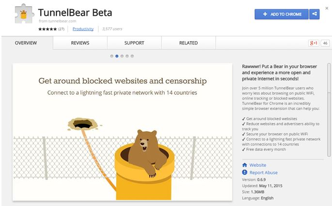 tunnel bear browser extension