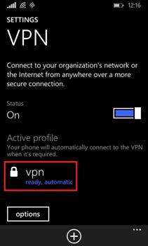 Setup VPN on Windows Phone