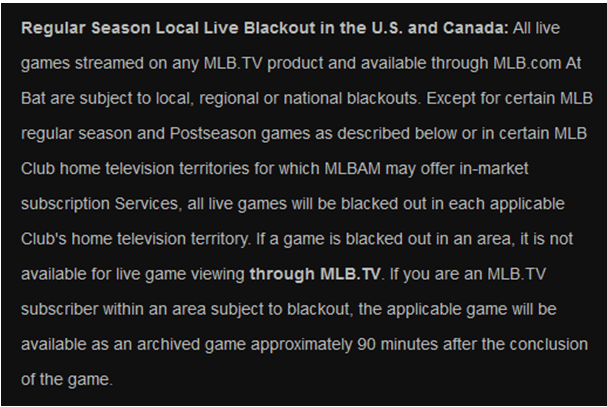 how to watch mlb tv blackout games