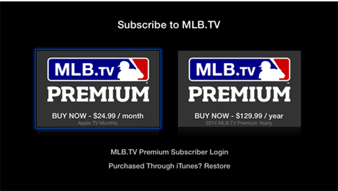 how to watch mlb.tv on apple tv