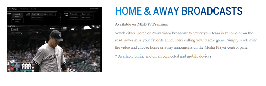 mlb home and aways broadcasts