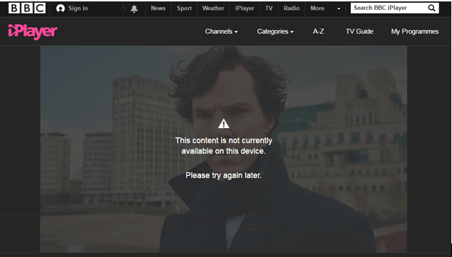 unblock sherlock on bbc iplayer uk