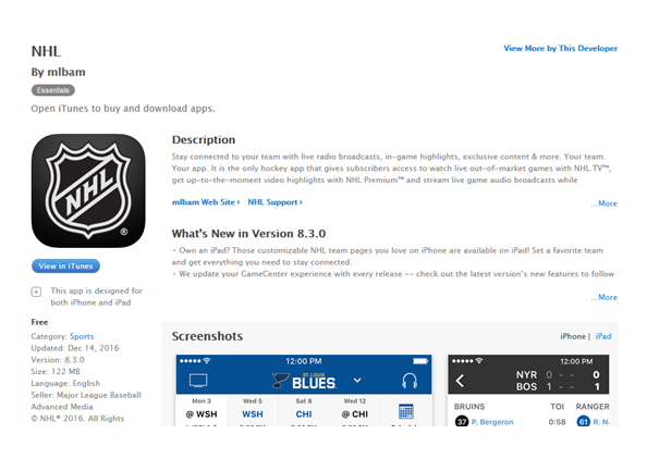 watch nhl on apple tv device