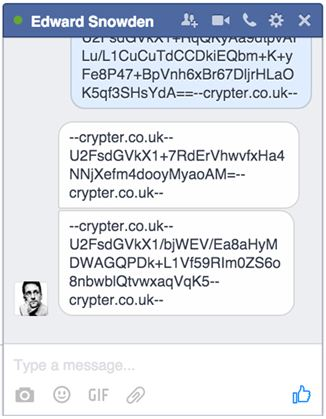 facebook blocks crypter