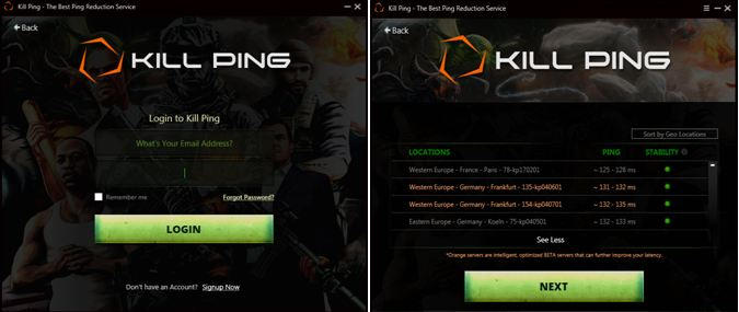 Kill Ping Windows software
