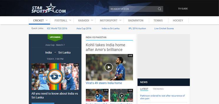 Watch Star Sports live