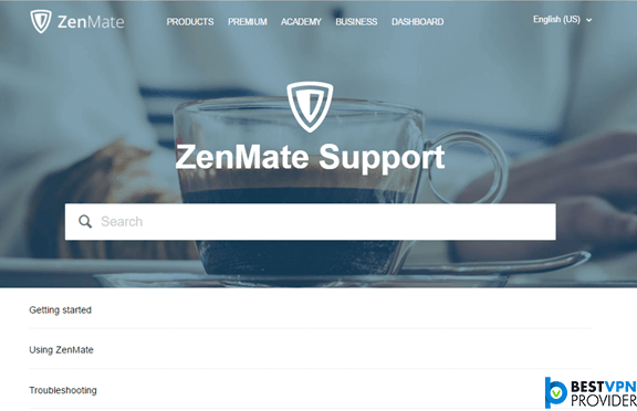 Zenmate Support review