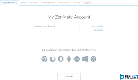 zenmate account