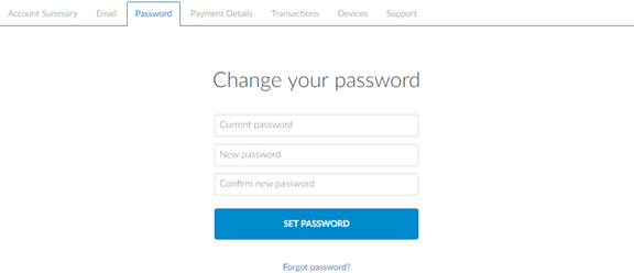 zenmate change password