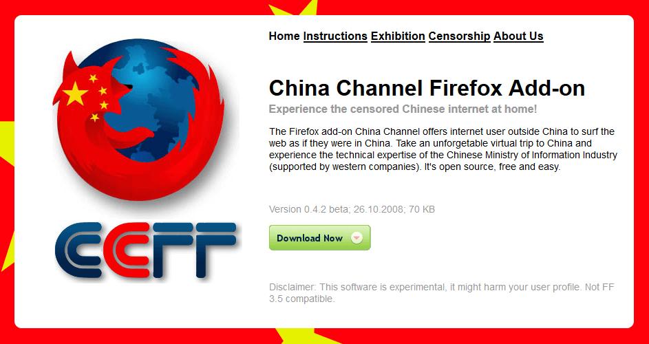 Firefox addon to unblock Youku