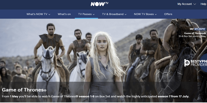 game of thrones nowtv uk
