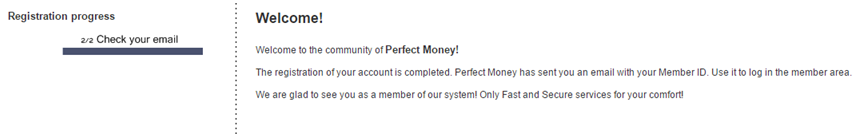 perfect money confirmation