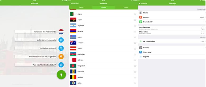 Purevpn iPad App Review