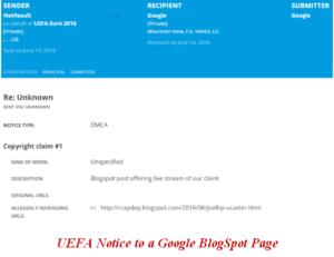 uefa euro cup dmca notice