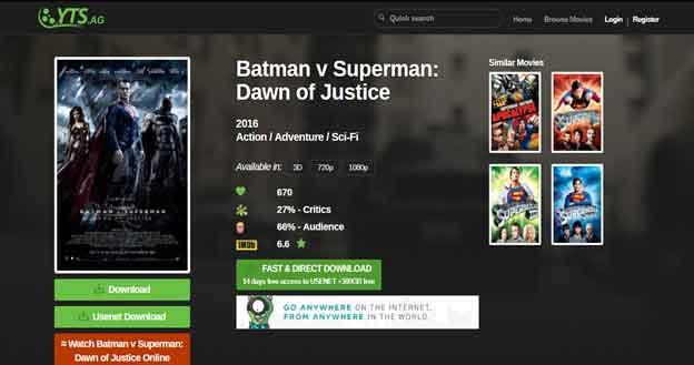 Batman vs. Superman Ultimate Edition YTS