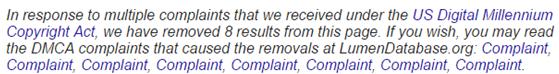 torrent dmca complaint