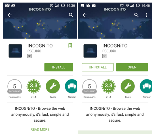 Incognito Android APP