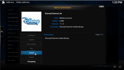 how to add channels on kodi