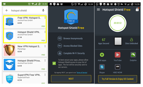 Hotspot Shield Android Review