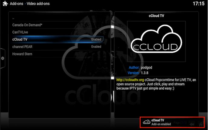 ccloud kodi addon review