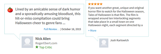 Tales of Halloween Reviews