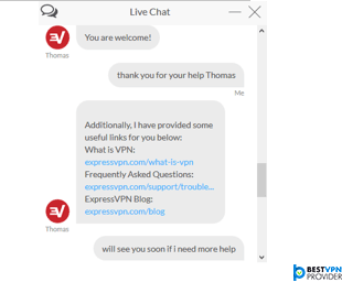 expressvpn live chat support review