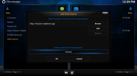 how to configure phoenix on kodi