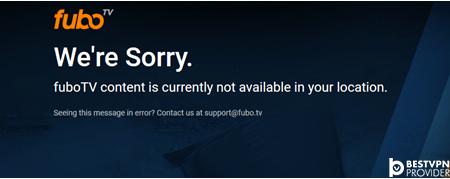 fubo tv geo restriction error