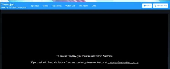 how to watch tenplay outside australia
