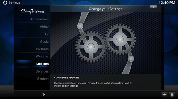 how to change phoenix kodi addon