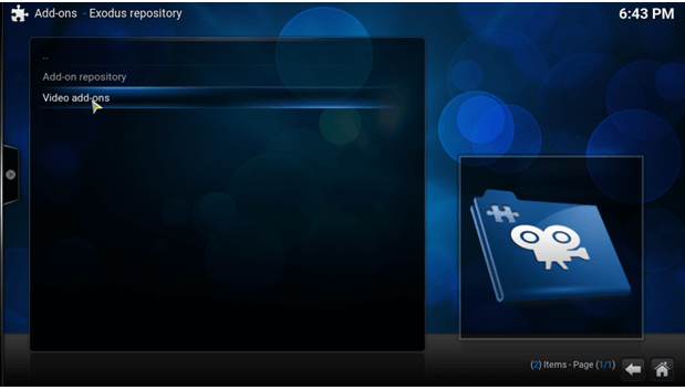 video addon exodus kodi
