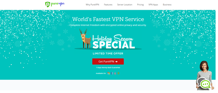 p2p VPN - PureVPN
