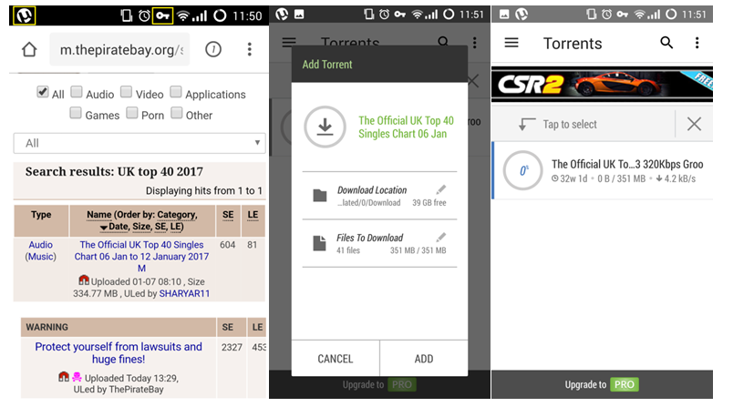 Downloading Torrents on Android