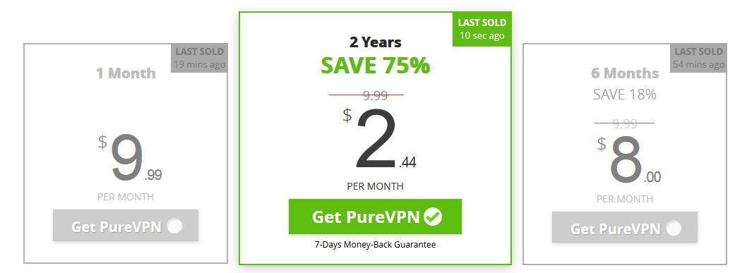 purevpn pricing