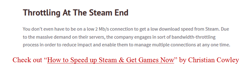 steam throttling