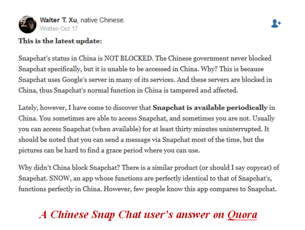 how to unblock access snapchat in china
