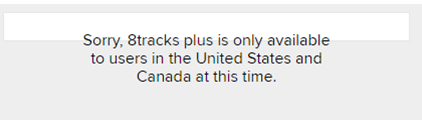 how to use 8tracks outside canada