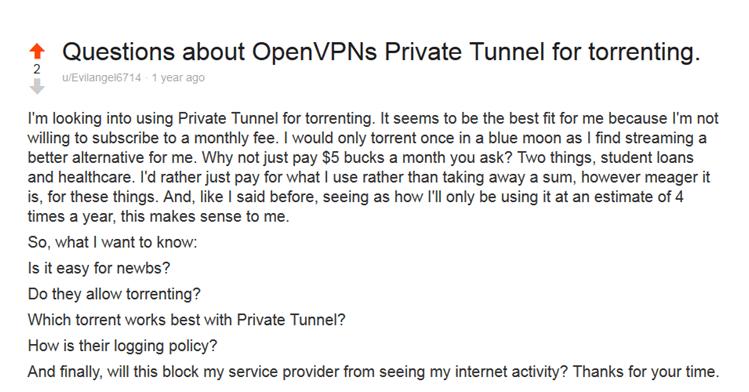 private tunnel reddit