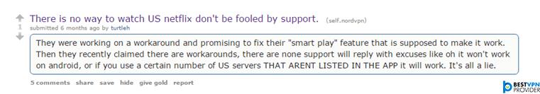 nordvpn reddit reviews on netflix