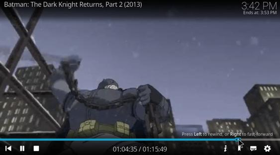batman the dark knight returns on kodi