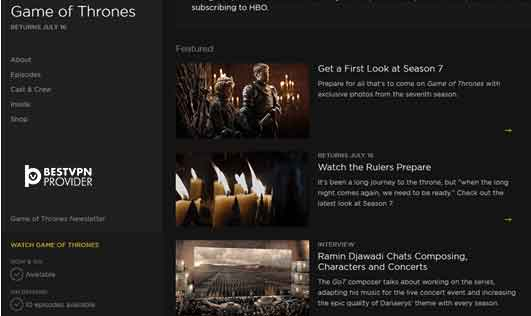 how to watch game of thrones
