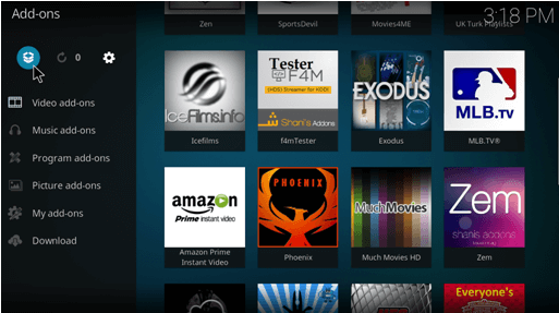 how to install acestream kodi addon