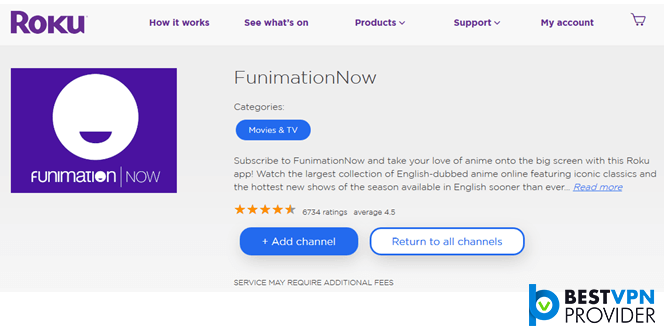 roku funimation now app