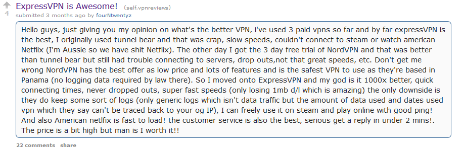 ExpressVPN Reddit