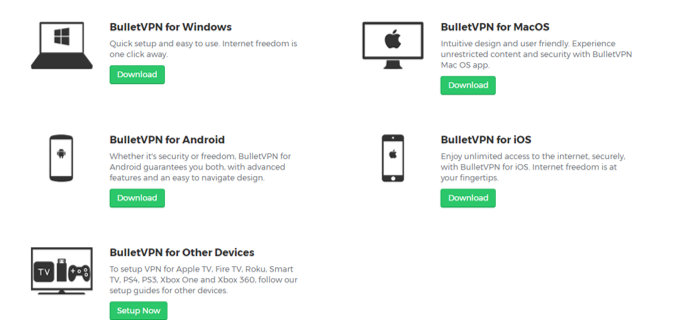 bulletvpn apps review