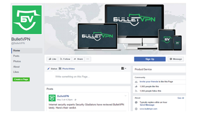 bulletvpn social media review